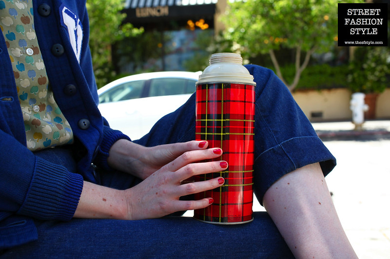 street fashion style, thesfstyle, sfstyle, street fashion photography book, streetstyle guide, catie nienaber, catie cuffington, vintage fashion, letterman jacket, vintage thermos,