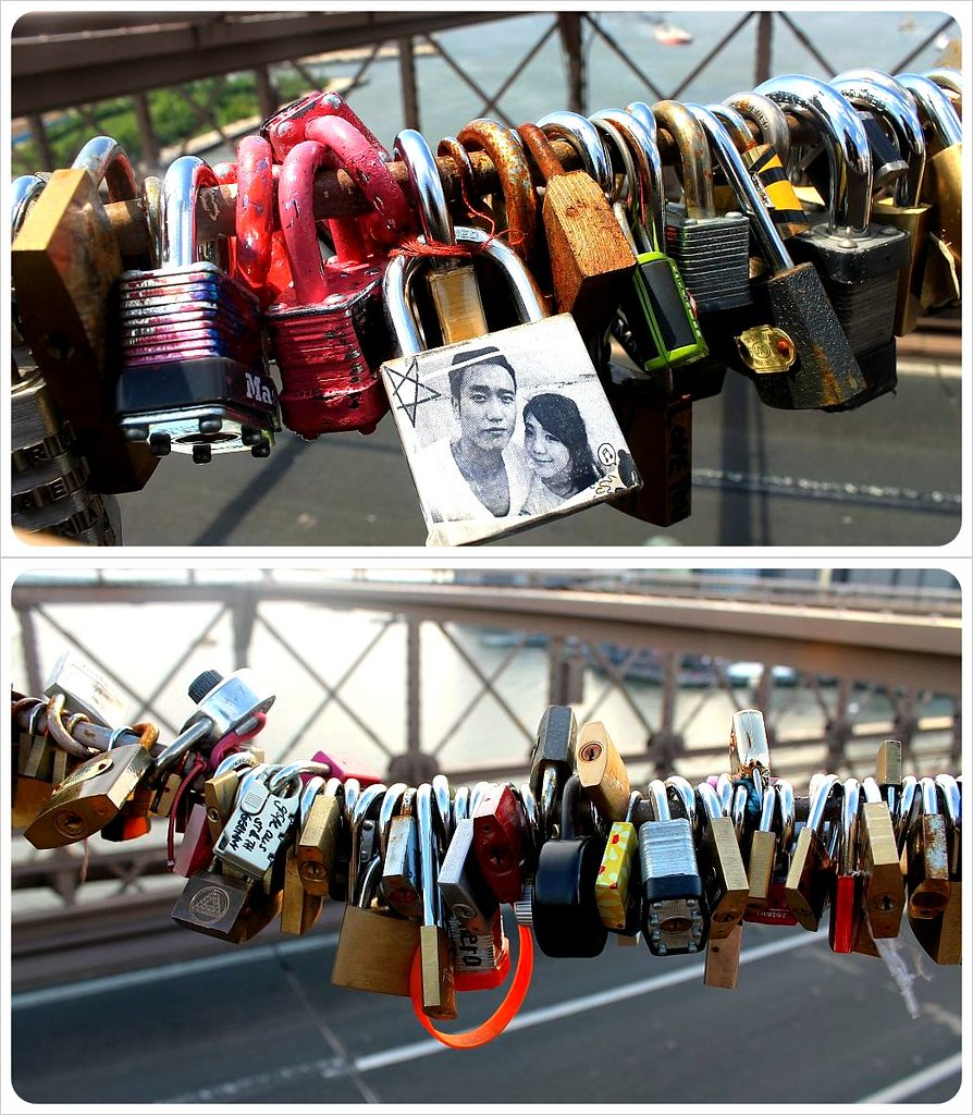 Brooklyn Bridge Love Padlocks New York