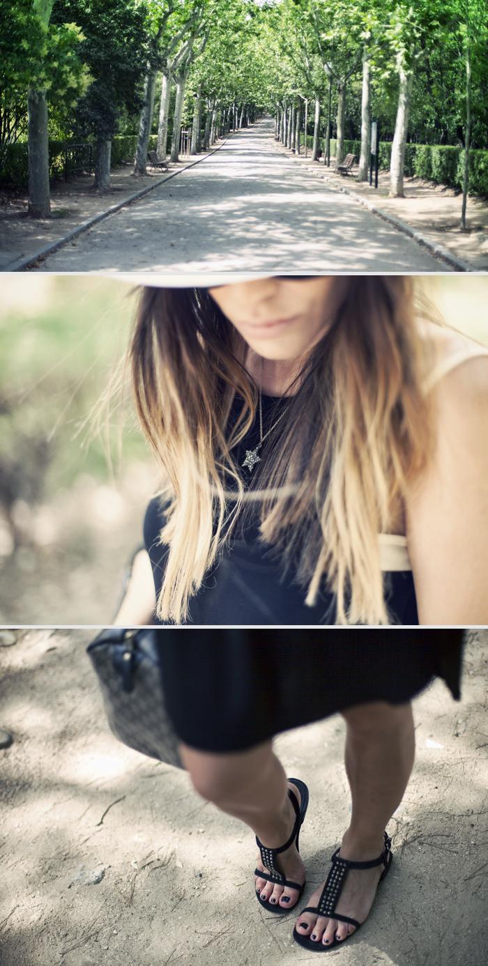 street style zara black dress