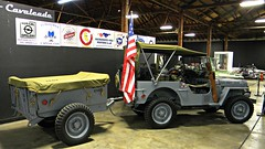 1942 Willys Overland MB Jeep U.S. Navy Shore Patrol with Converto Dump Traileer 2