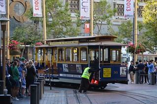 MUNI Powell Mason Line - Powell and Market - San Francisco - August 19, 2013  (1)
