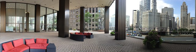These couches are made for workers to nap (Illinois Center patio)