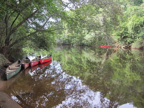 Canoes waiting