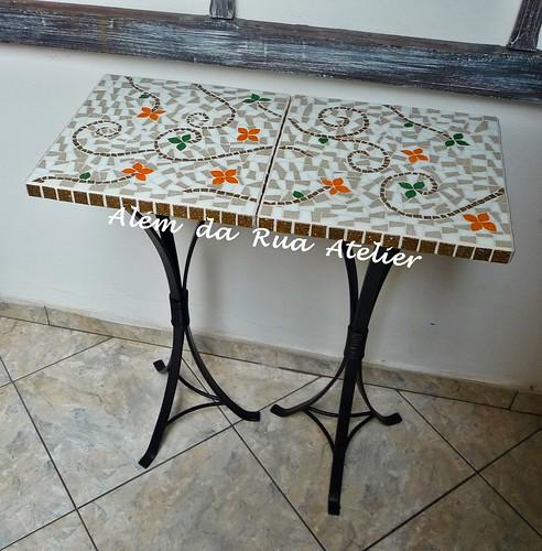 Mesas de mosaico para espaços pequenos