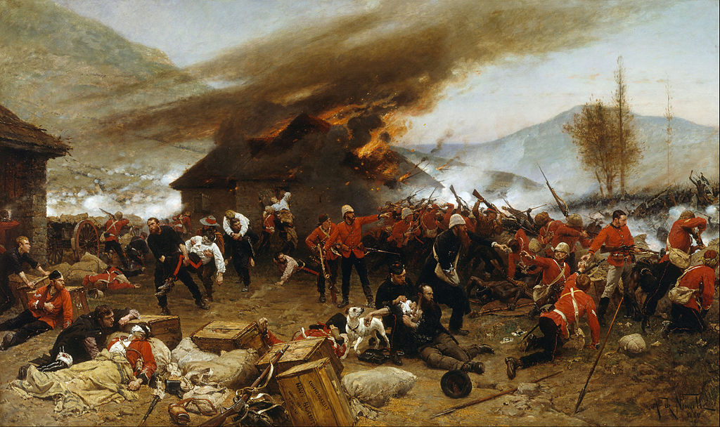 Alphonse_de_Neuville_-_The_defence_of_Rorke's_Drift_1879_-_Google_Art_Project