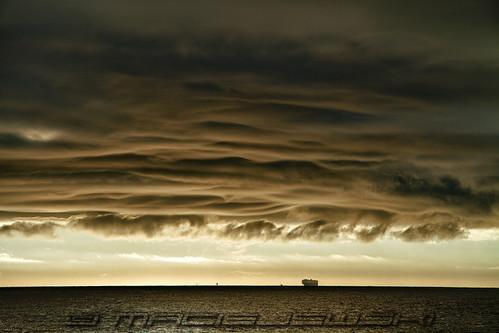 statepark clouds sunrise de ship wave delaware wavy atlanticocean capehenlopen