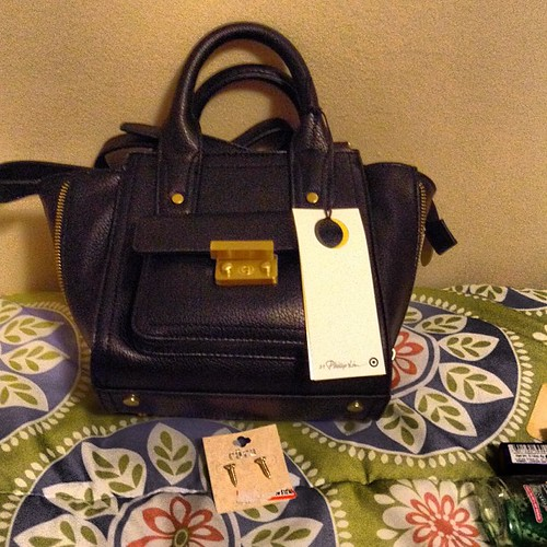 Mini bag from #philliplimfortarget and small earrings from @targetstyle.