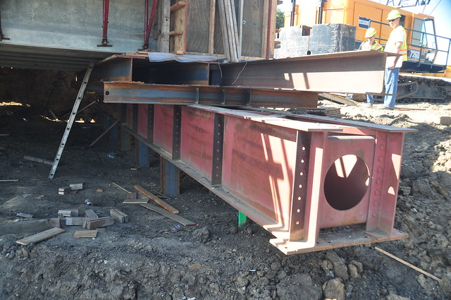 Massena Bridge Project- Off site construction 8-29-13