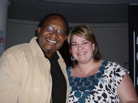Vusi Pikoli and Mandy Wiener