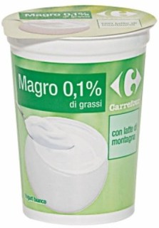 Yogurt Bianco Magro Carrefour 0,1%