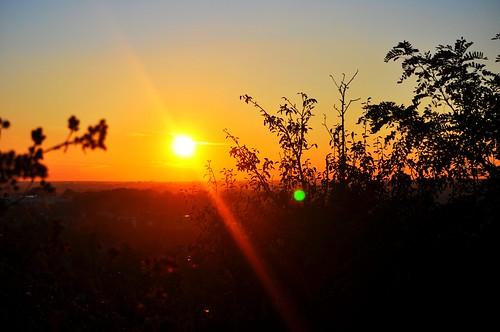 sunset sun silhouette nikon time lodz d90 flara nikond90 eggii relsxingview