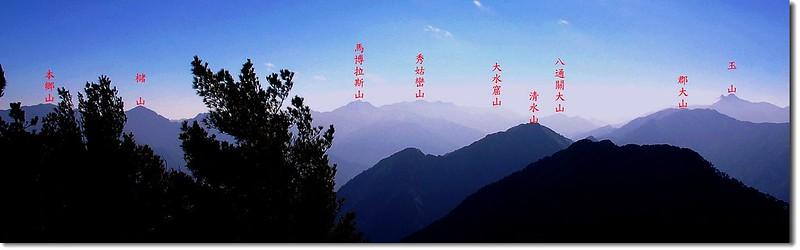 西巒大山東南向展望 2
