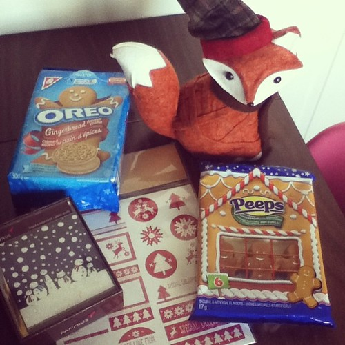 Getting ready for Christmas! I love this fox so much!! And the Gingerbread Oreos are yummy!! #targetcanada #gingerbreadeverything