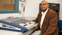 Robert Jones, who worked as a recording engineer in Los Angeles, is now an MBA student in the Raymond J. Harbert College of Business.