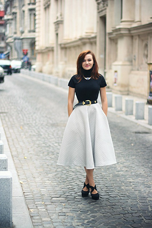 h&m full midi skirt 1