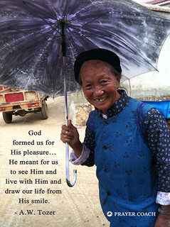 God pleasure smile live in Him