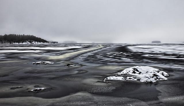 December gray winter day on Lake Saimaa 3