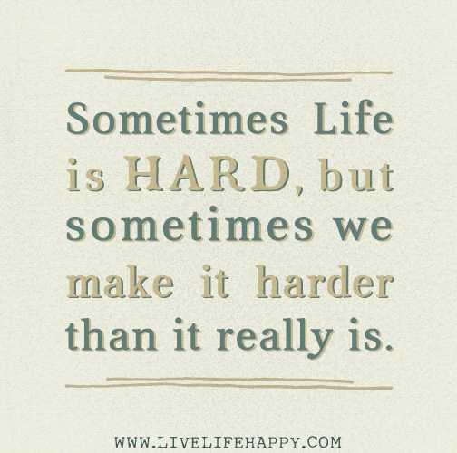 Life Is Hard Its Harder If Youre Stupid Poster: Sometimes Life Is Hard, But Sometimes We Make It Harder