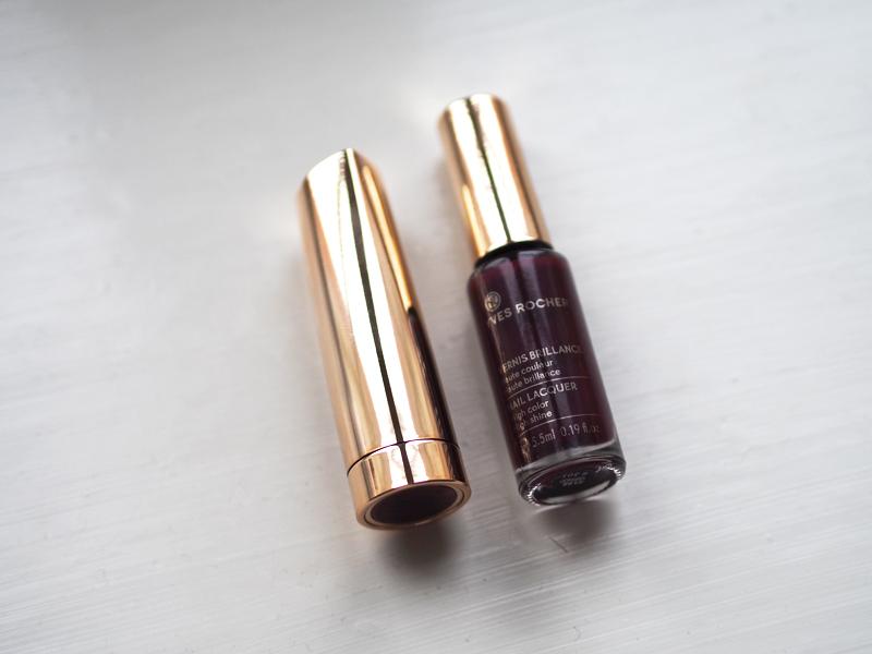 plum lipstick plum nailpolish