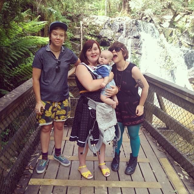 #babyjagoe, @crimpity, @kaskathepooh & I at Lilydale Falls #Tasmania
