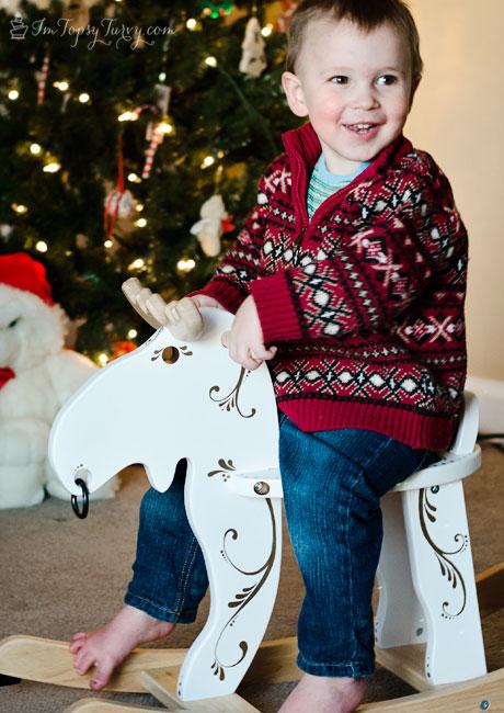 Christmas-rocking-moose-ikea-hack-#StaplesSharpie
