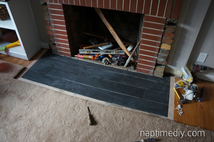 Fireplace Tile 8 {via NaptimeDIY.com}
