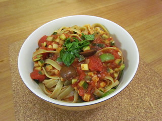 Pasta and Zucchini Puttanesca
