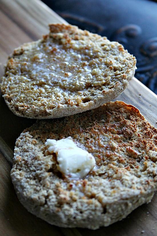 Honey Wheat English Muffins | heathersfrenchpress.com