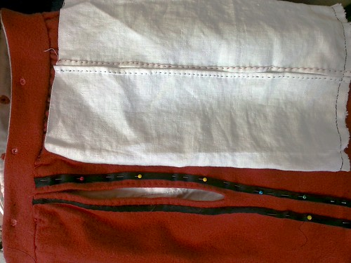 Pocket Opening, Red Men's Outfit, from 1560's Italy, based heavily on Moroni portraits on MorganDonner.com