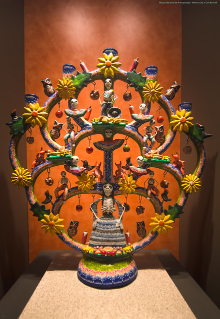 Calavera Tree of Life in the Museo Nacional de Antropología - Mexico City