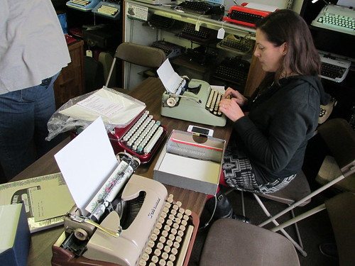 Type-In at California Typewriter in Berkeley CA Dec 27 2013