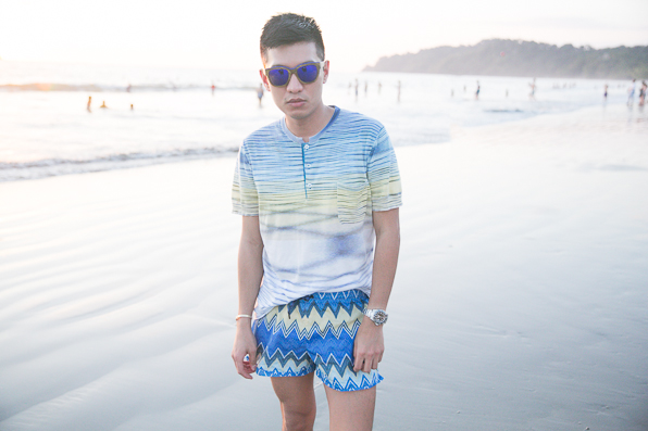 Bryanboy at Playa Manuel Antonio, Costa Rica