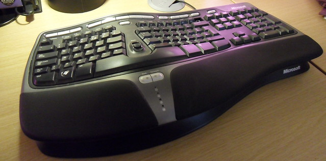 Strange wavy Microsoft keyboard