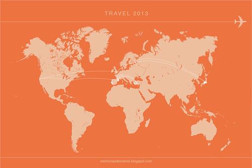 Travelmap 2013
