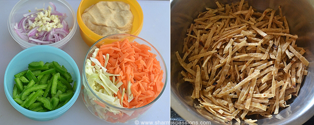 Chapati Noodles Preparation