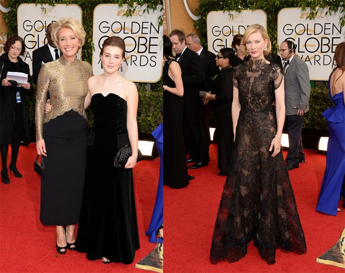 GoldenGlobes14-Emma Thompson Cate Blanchett