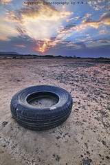 Lost tire in the desert