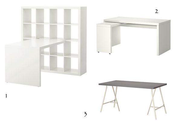Desks from ikea