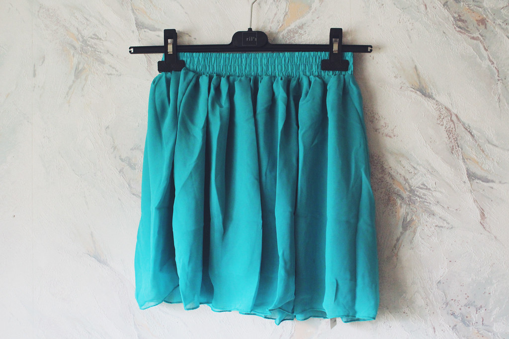 double chffon skirt in turqoise review bought on Ebay