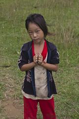 Girl Standing on Grass