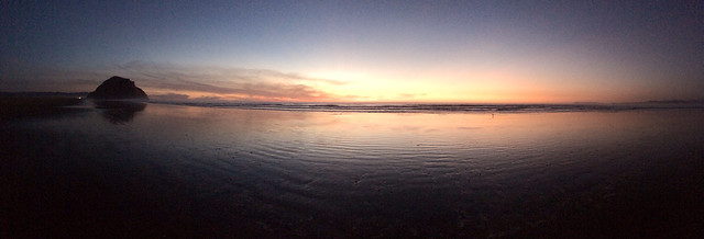Morro Strand State Beach sunset January 18, 2014. IPhone 5s native camera app pano mode. Morro Bay, CA