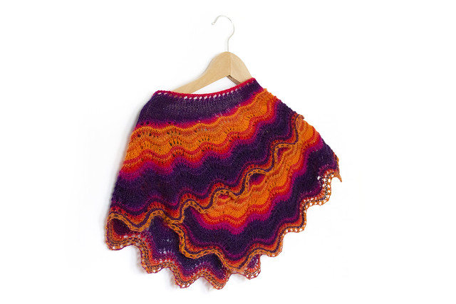 Andalusia Shawl knitting pattern now available - uses one skein.