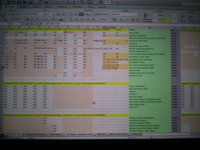 Maniacal spreadsheet action