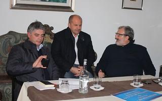 Franco Mancini, Domenico Vito e Michele Emiliano, sindaco di Bari