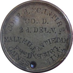 MCINTIRE Civil war dog tag