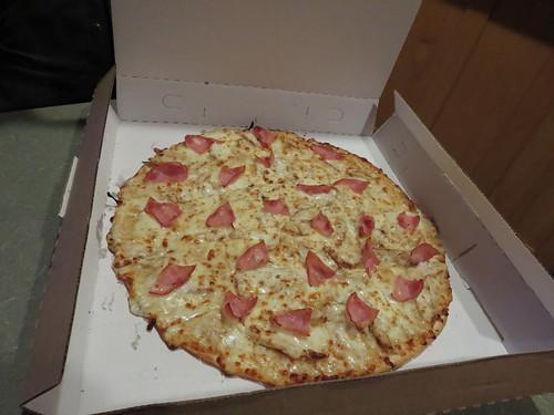 Honey mustard chicken pizza
