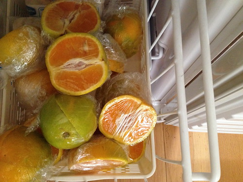 Frozen oranges snack for the school lunch box IMG_6286