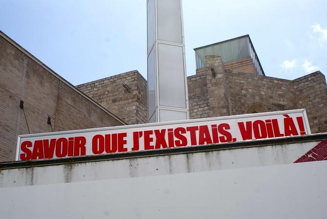 Installation artistique devant le musée d'art contemporain.