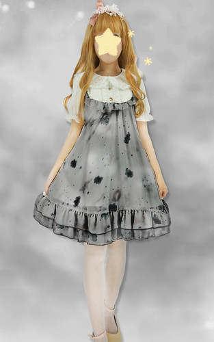 Little Dipper Stars Night Sky Baby Doll Lolita Dress