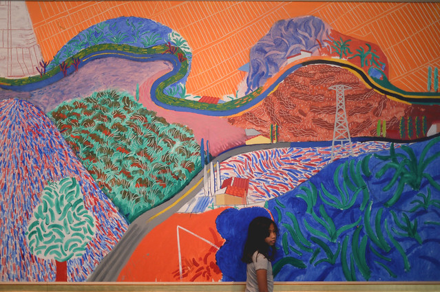 """mulholland drive"" painting by david hockney"